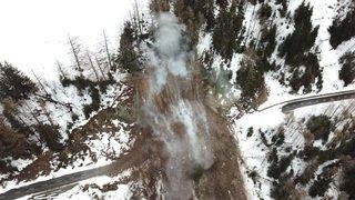 16.02.2018: Images par drone du minage de Trient
