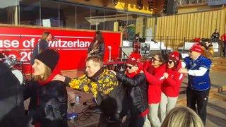 Ces Valaisans aux JO 2018: le snowboarder Pat Burgener se lâche guitare à la main après sa cinquième place à PyeongChang