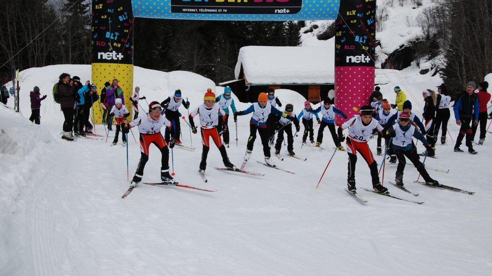 Le ski de fond a la cote parmi les jeunes athlètes.
