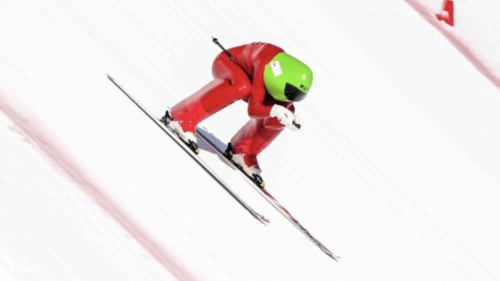 Philippe May s'est une nouvelle fois montré supersonique sur ses skis pour atteindre les 185 km/h.