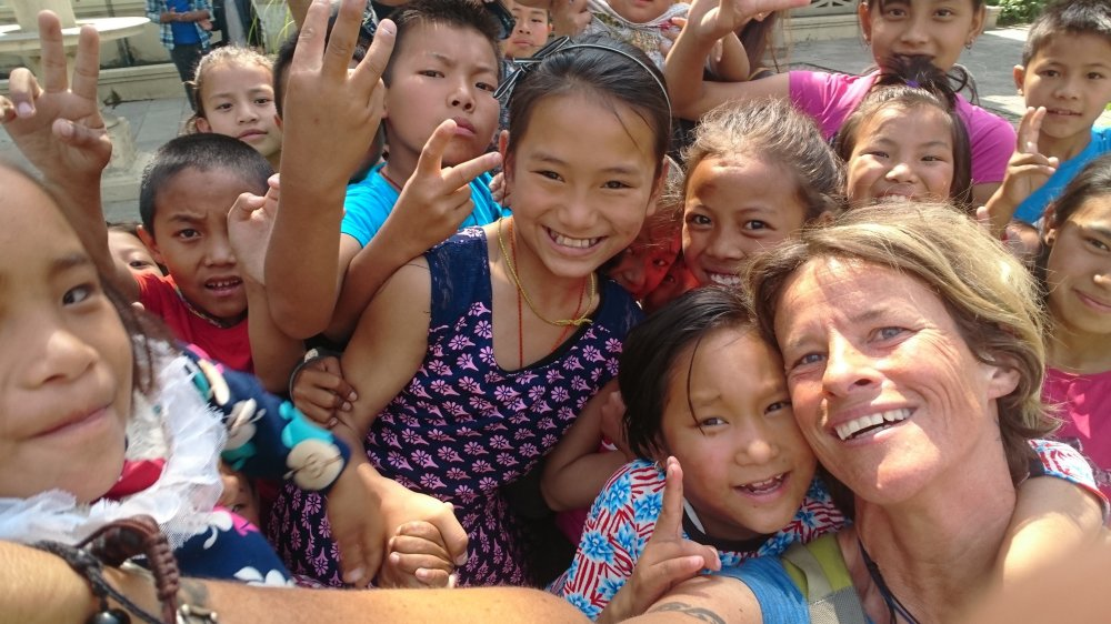 Karine Moix adore le Népal: «Les gens y sont si humbles, si accueillants.»