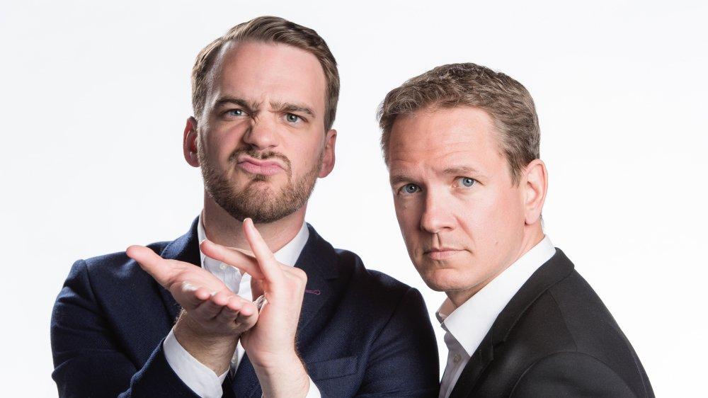 Après «120 secondes» et «26 minutes» sur la RTS et ses deux premiers spectacles, le duo Vincent Veillon et Vincent Kucholl retrouve la scène pour la troisième fois avec «Le fric».