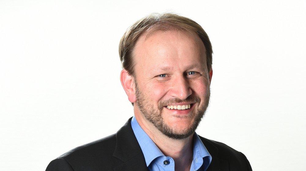 """Vincent Fragniere, rédacteur en chef du """"Nouvelliste""""."""