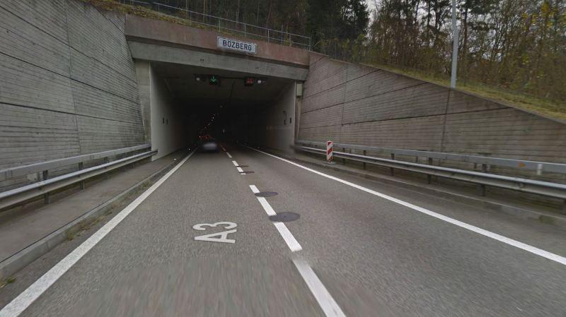 Argovie: un tunnel de l'autoroute A3 fermé après une alerte à la bombe