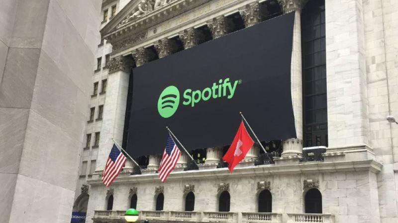 Pour célébrer l'entrée du géant suédois Spotify, Wall Street hisse le drapeau... suisse