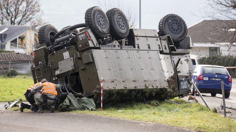 Armée: les accidents ont coûté plus de 15 millions en 2017, en hausse par rapport à 2016