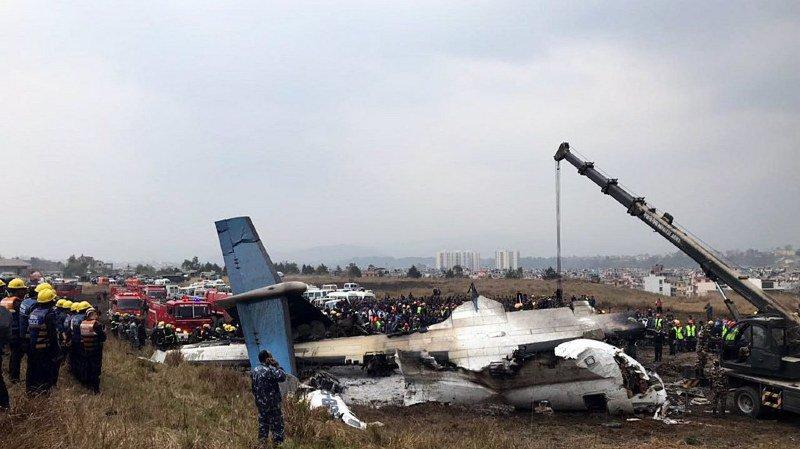 Ce crash a fait un nombre encore non déterminé de morts et blessés, ont annoncé les autorités.