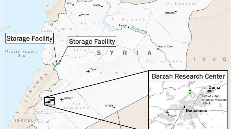 Syrie: les Etats-Unis, la France et la Grande-Bretagne ont frappé le régime de Bachar al-Assad