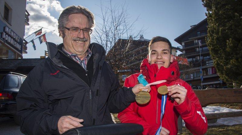 Théo Gmür - Jacques Blanc: la rencontre de deux champions paralympiques