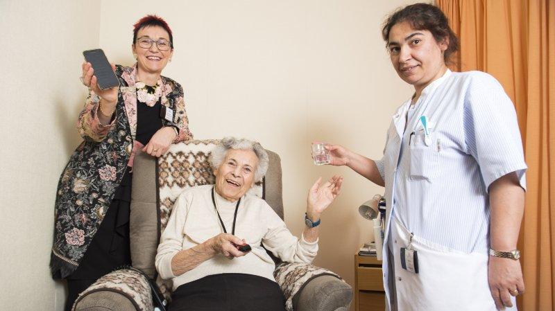 Le système mis en place à l'EMS de Zambotte permet notamment au personnel soignant de savoir en temps réel où se trouvent leurs pensionnaires.