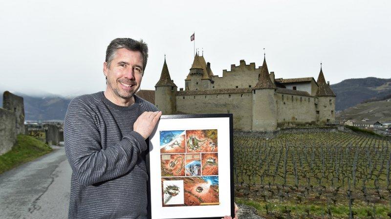 Passionné de bandes dessinées, Jean-Marc Crousaz préside le comité d'organisation du premier festival de BD au château d'Aigle.
