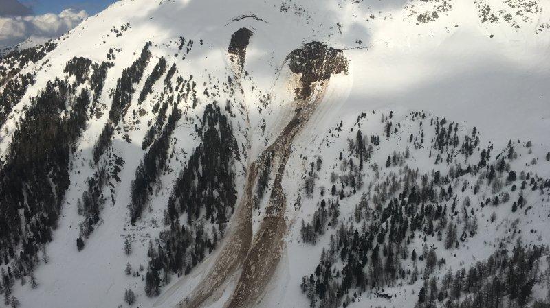 Avalanche sur les hauts de Riddes (VS): un corps retrouvé
