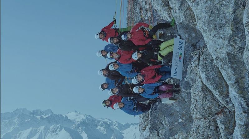 Valais: la plus haute photo de classe de Suisse... à l'horizontal