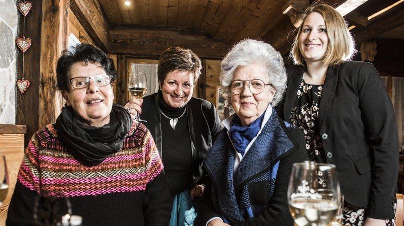 Aliette Beytrison, Marie-Jo Gessler, Andrée Fauchère et Virginie Gaspoz-Chevrier, en marge de la journée des femmes.