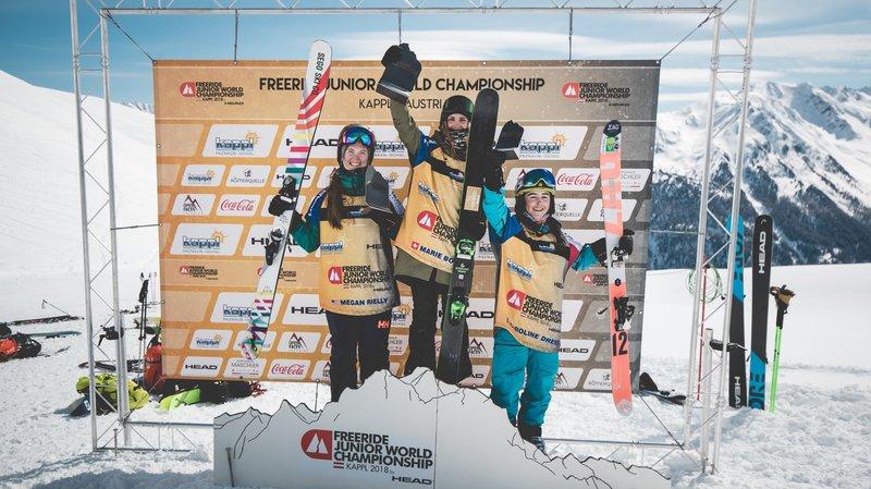 Marie Bovard s'impose à Kappl pour sa première participation aux championnats du monde juniors de Freeride