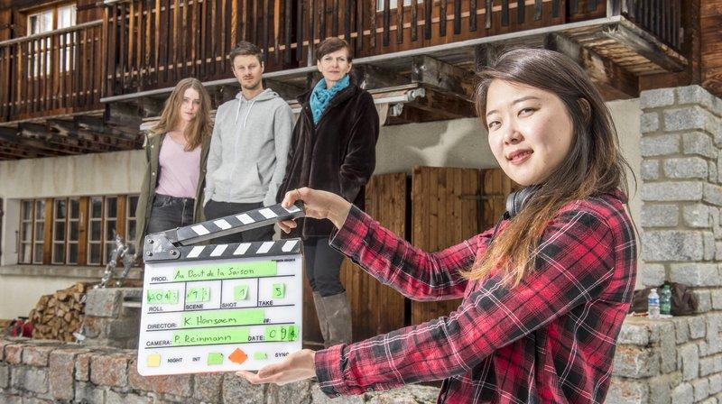 La réalisatrice Hansaem Kim dirige les acteurs Pauline Schneider, Anthony Vuignier et Anne-Laure Vieli.