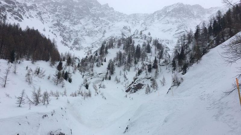 Une avalanche d'une rare ampleur s'est déclenchée jeudi à la Fouly.