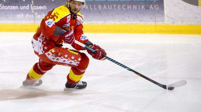 Marwan El Assaoui, joueur du HC Sierre.