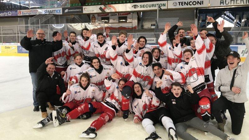 Les novices promus en élites, un grand pas pour le hockey valaisan
