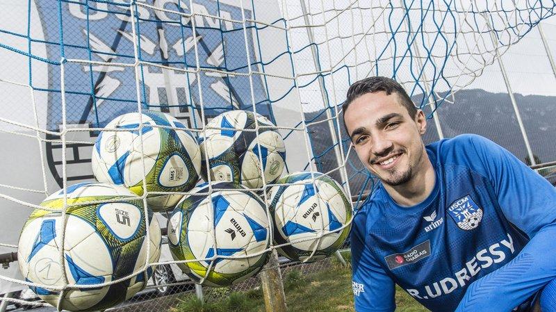 Paulo Paiva a inscrit cinq goals ce week-end sur la pelouse du FC Sierre.