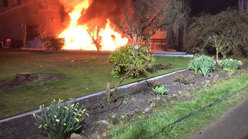 Incendie d'un camping-car aux Evouettes