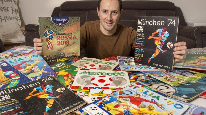 Monthey: fan de Panini, il possède toutes les éditions à double depuis la Coupe du monde 1974