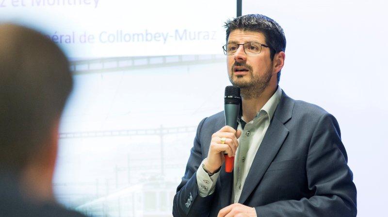 Yannick Buttet a fait son retour devant le conseil général lundi soir à Collombey-Muraz