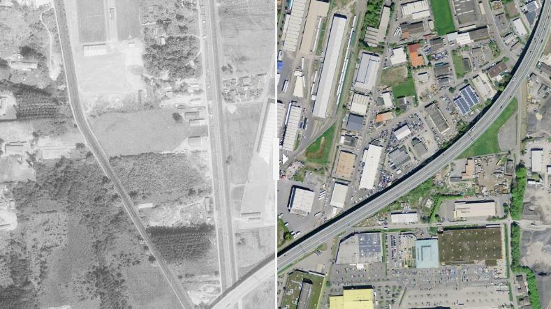 À quoi ressemblait votre rue il y a 40 ans ? Swisstopo vous le montre en un seul clic