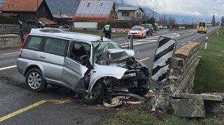 Une homme se tue au volant entre Martigny et Charrat
