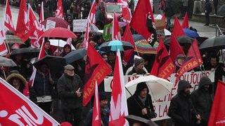 Manifestation contre la politique d'austérité à Neuchâtel