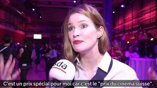 """Lisa Brühlmann est la grande gagnante du """"Prix du cinéma suisse"""""""