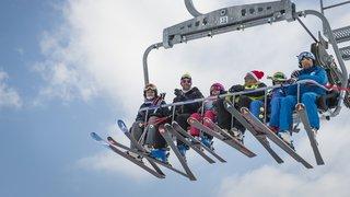 A skis avec les anciens champions
