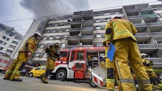 Important incendie au centre de Genève