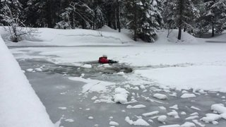 13.03.18: exercice de sauvetage au lac de Champex