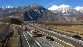 A9 Martigny et environs: les travaux de réfection démarrent le 12 mars
