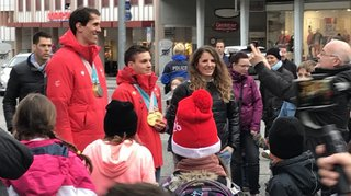 Reçus par le Conseil d'Etat, les médaillés olympiques rencontrent leurs supporters à Sion