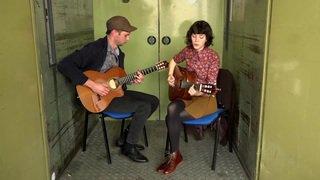 """Meimuna, avant le Zermatt Unplugged, dans la """"Monte-charge Session"""" du Nouvelliste avec son titre """"Le Grand Cormoran"""""""