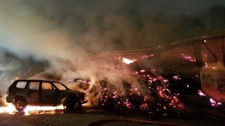 VD: un chalet à Caux et un hangar à Rossinière ont pris feu