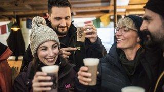 Nendaz: les brasseurs font du ski