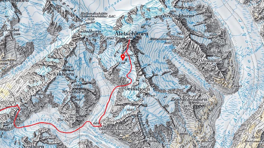 Aletschhorn: un guide de montagne perd la vie après avoir chuté