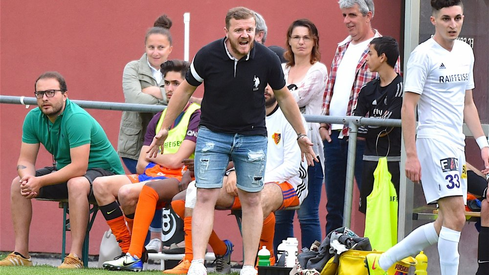 Augustin Llukes, entraîneur du FC Saxon, était un peu frustré à la fin du match.