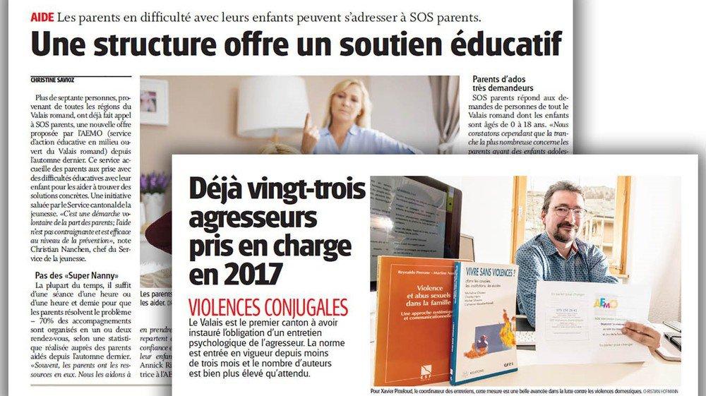 Deux prestations importantes de l'AEMO, que nous avions présentées lors de leur création (cf. ci-dessus) ne seront pas reprises par Saint-Raphaël: SOS_Parents et les entretiens obligatoires pour les auteurs de violences domestiques.