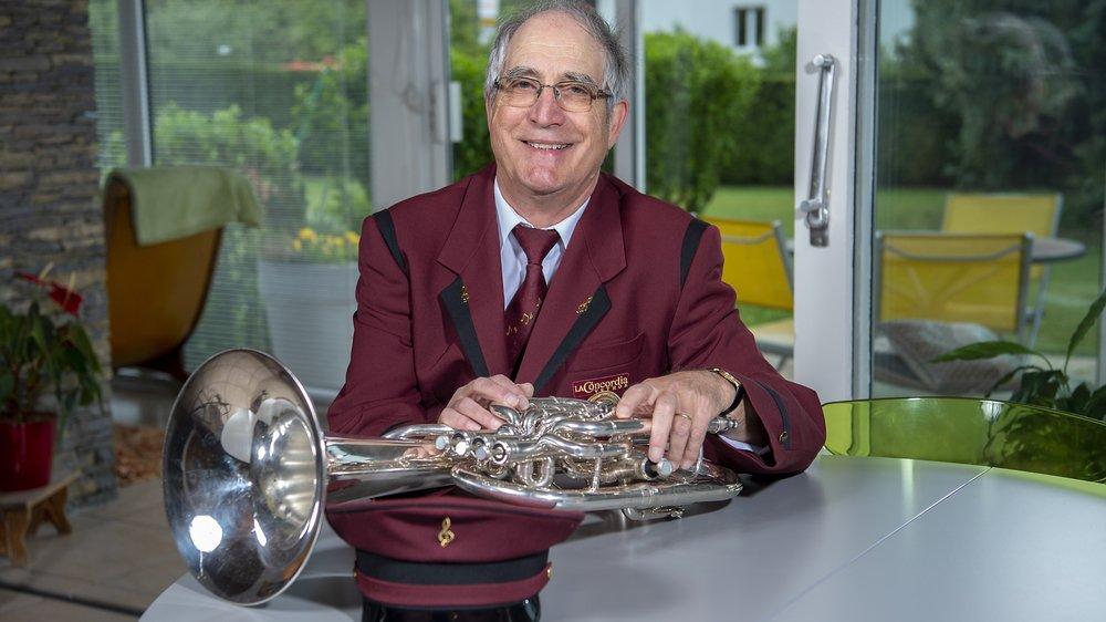 Vétroz: la musique rythme la vie de Bernard Sauthier depuis