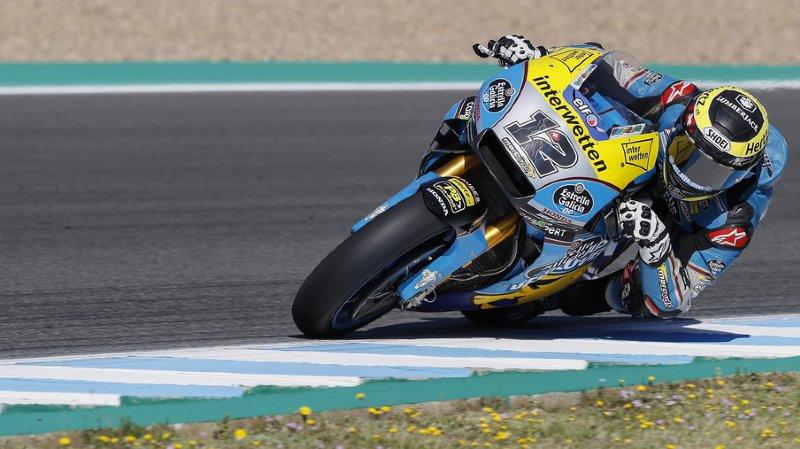 Motocyclisme: Thomas Lüthi chute à la mi-course et l'Espagnol Marc Marquez s'impose