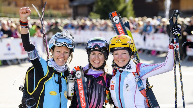 Laetitia Roux, Jennifer Fiechter et Axelle Mollaret savourent leur succès.