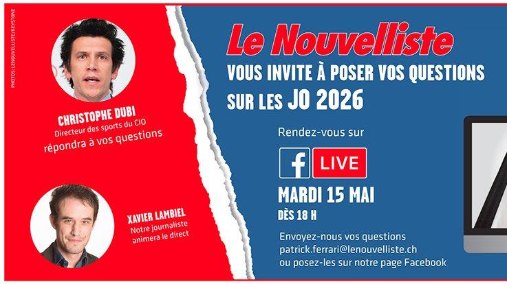 Christophe Dubi, responsable sports du CIO, sera l'invité de Xavier Lambiel mardi 15 mai dès 18h.