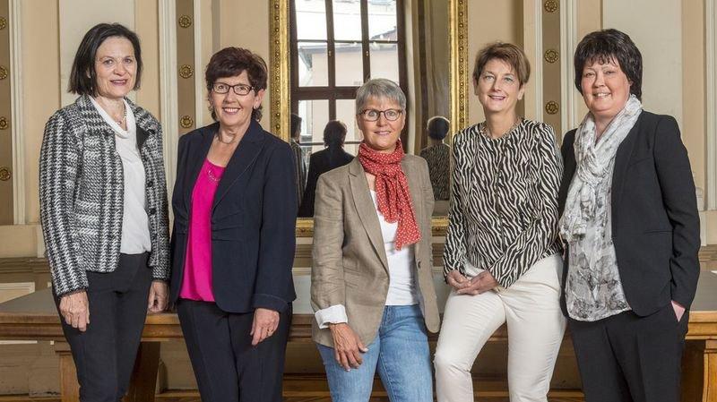 Grand Conseil: cette année, ce sont cinq femmes qui dirigent la politique valaisanne