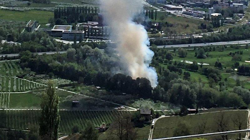 Bramois: incendie sur la digue de la Borgne; trois mineurs interpellés