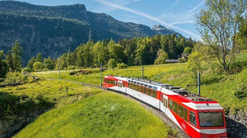 Le Mont-Blanc-Express est l'une des attractions de la Vallée du Trient qui sera mise en lumière via la plateforme en ligne E-campus.