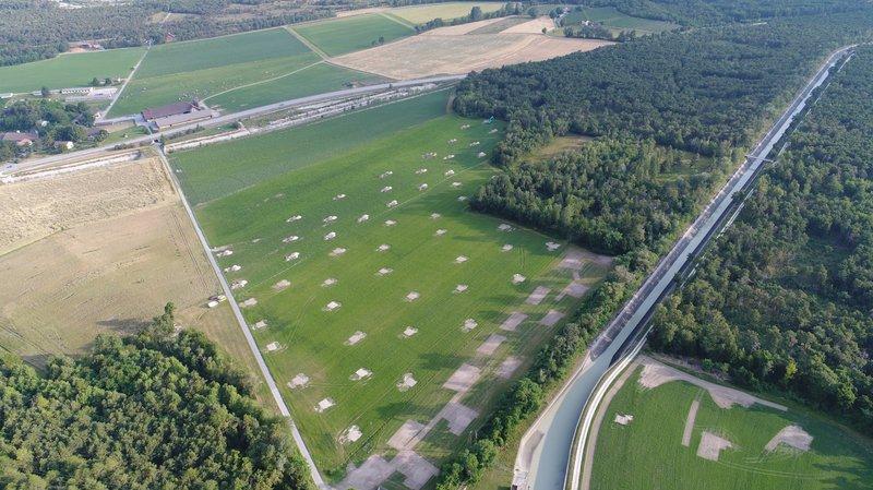 Quelque 600 sondages archéologiques ont été faits du côté de Pfyngut et Susten Est.